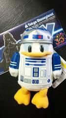 ディズニー TDL 30周年 STAR WARS ドナルド R2-D2 ぬいぐるみバッジ