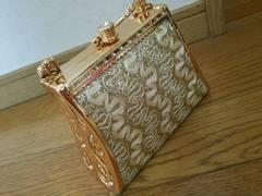 美品 パーティ バッグ 鞄 ゴールド キラキラ  結婚式 ショルダー