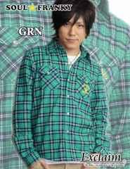 SOUL☆FRANKY梅しゃん私物PEACEロゴチェックシャツS