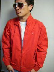 TOMMY上質ベーシックスウィングトップジャケット赤Sトミー