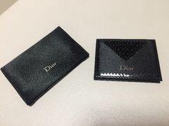 Diorミラー、黒、カバー付き