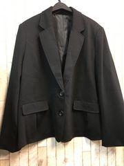 新品☆5Lわけあり柔らか素材のテーラードジャケット黒☆n979