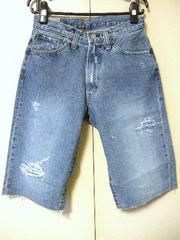 ◆BLUEWAY◆ブルーウェイ◆ダメージ加工◆ハーフパンツ◆ジーンズ◆