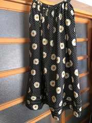 ☆ピンクハウス☆ロングスカート☆黒×ドット