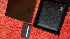 〈正規品〉新品 dunhill ダンヒル⭐ 本革 黒 二つ折財布