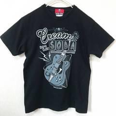 クリームソーダ ギタープリント Tシャツ M 黒 ロック バンドT