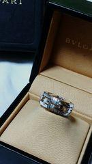 正規美 ブルガリ BVLGARI パレンテシ リング13号 K18WG 53 男女兼用 指輪