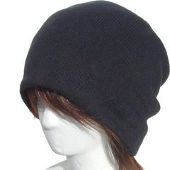 帽子♪オールコンデション コットン ルーズ ニット帽 ブラック