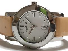 美品 1スタ★アニエスb./agnes b. 激かわ レザーベルト腕時計