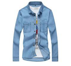メンズ シャツ  デニムシャツカッコイイシャツ M~3XL/AK241