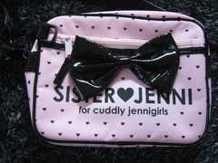 ジェニィ/JENNI ☆ピンクのドットリボンショルダーバグ園バッグにも