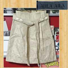 購入20000円 AULA AILA アウラアイラ ミニスカート ゴールド 美品