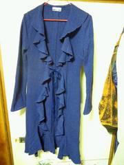 スコットクラブ/SCOTCLUB濃い紫色ニット系ロングカーディガン・コート長袖