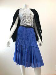 ◆ANAYI・アナイ・美ブルーのミモレ丈スカート◆38