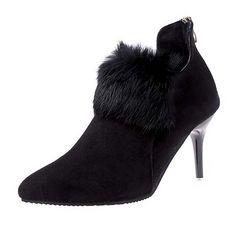 セール Y022-1即決 新品 ファー ブーツ 黒 24.5 エスペランサ ダイアナ 好きに
