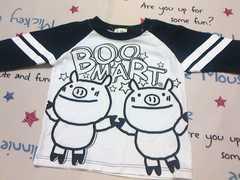 BOO MART長袖Tシャツサイズ95�p白×黒