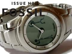 美品 1スタ★FOSSIL フォッシル【アナログ×デジタル】腕時計