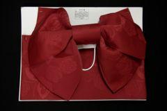 浴衣に♪超簡単!子供浴衣結び帯作り帯赤薔薇と蝶ゆかた