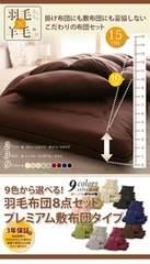 格安!9色から選べる羽毛布団8点セット☆ダブル