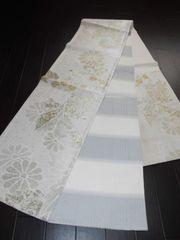 M488 上品・疋田柄菊・両面使える袋帯