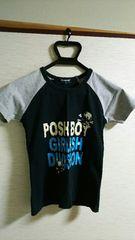 ▲160�p▲POSH BOY▲半袖Tシャツ▲ドクロ▲黒・灰▲