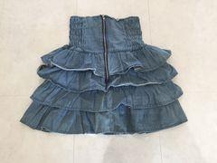 美品☆デニム☆スカート☆フリル☆Mサイズ