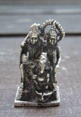 ☆即決☆白銅製 シバ・ガネーシャ・パールパティー 豆仏像