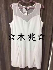 H&M透け感ノースリミニワンピ