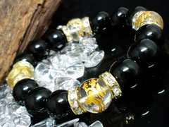 四神獣水晶§オニキス12ミリ数珠
