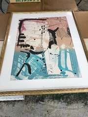 30年以上前ロンドンのオークションです買った高価な抽象画。