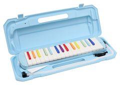 鍵盤ハーモニカ 虹色 32鍵