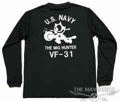 水陸両用 ラッシュガードにも ドライTシャツ NAVY 黒猫 黒L