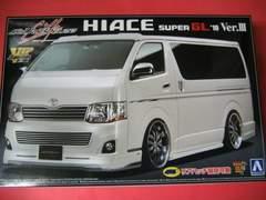 アオシマ 1/24 VIPアメリカン No.3 シルクブレイズ 200系ハイエース '10 Ver.�V