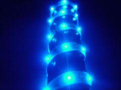 超発光/薄型/防水 LEDテープ 60�p ブルー/青