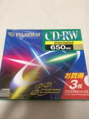 fujifilm cd-rw 3枚組 未開封 650mb 新品 日本製