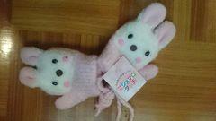 新品タグ付☆マシュマロタッチBABY用うさぎちゃん手袋