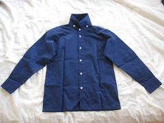 [新品]OliverHouse KIDS用長袖シャツ(ネイビーブルー)130�p