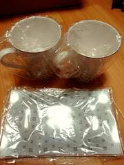 ジバンシー☆未使用☆お皿&コップ2つセット(*^ー^)