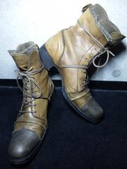 アルフレッドバニスター〓ニットブーツ靴〓42/オリーブ〓
