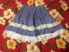 アクシーズファム☆ライトブルー×ホワイト☆ふんわりスカート☆