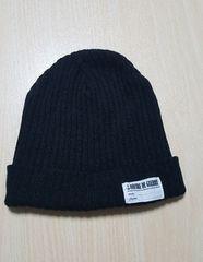 黒のニット帽★美品です(*^^*)フリーサイズ