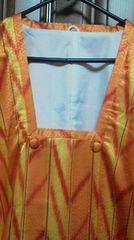 とっても素敵な雨コート 防寒着にも 新品同様 美品黄色×オレンジ