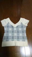 Vネックニットセーター  半袖