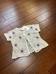 【定価3900】新品◆PETIT Angelina◆上質鍵編みカーディガン