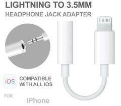 iPhone Lightning 3.5mm イヤホン ヘッドフォン アダプタ