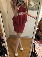 キャバ☆ゴージャスレッドミニドレス