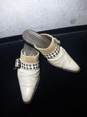 アルフレッドバニスターレザーミュール・シューズ靴ホワイト/44