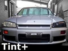 Tint+再利用OK スカイライン R34 セダン ヘッドライト スモークフィルム