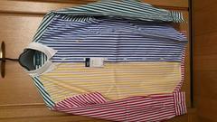 訳あり激安80%Polo、ラルフローレン、長袖シャツ(新品タグ、カラフル、M)