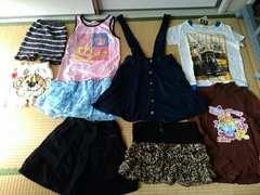 130�p女の子9点福袋コムサプリーツスカート